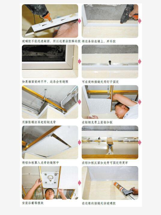 天花板用胶水固定,容易起翘  装修知识  第3张